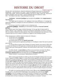 Cours d'histoire du droit - licence 1 - droit
