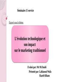 L'évolution technologique et son impact sur le marketing traditionnel