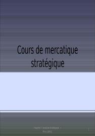 Cours de marketing stratégique