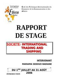 Rapport de stage senegal
