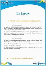 Le Japon : fiche de révision Brevet
