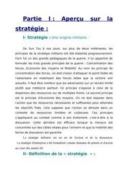 Base de la stratégie