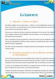 La Liberté : Cours Terminale ES - S