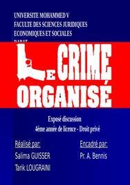 Le crime organisé dans le monde