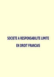 La sarl en droit français