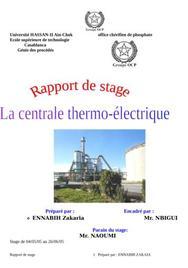 Rapport de stage la centrale thermo-électrique