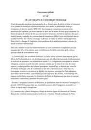 Rapport sur la gouvernance mondiale pour le g7 et le g8