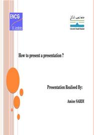 How to present a good presentation