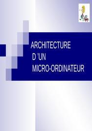 Cours architecture d'un ordinateur