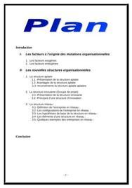 Les nouvelles structures organisationnelles