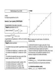 Sujet et corrigé bac es de mathématiques 2009
