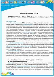 Commentaire de Texte de Candide : Chapitre 18