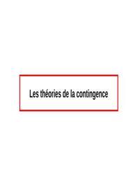 La théorie de contingence