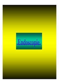 Diapositives sur l'endoscopie