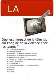 L'impact de la violence télévisuelle chez les jeunes