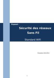 Sécurité des réseaux sans fil wifi