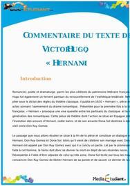 Commentaire de texte : « Hernani » de Victor Hugo