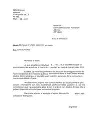 Lettre de motivation job d 39 t mairie digischool documents - Motivation menage ...