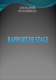 Diaporama soutenance rapport de stage bts cgo