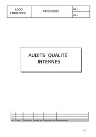 Procédure audit interne