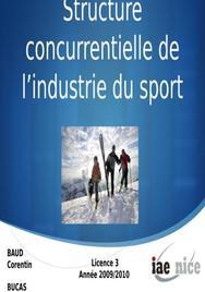 Structure concurrentielle de l'industrie du sport