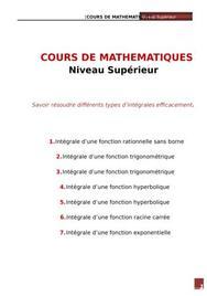 Cours de mathématiques - résolution corrigée d'intégrales