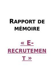 Mémoire : e-recrutement