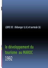 Quelques éléments de prospective du développement touristique au maroc