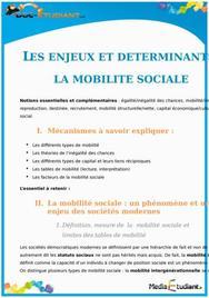 Les Enjeux et Déterminants de la Mobilité Sociale : Cours Terminale ES