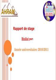Rapport de stage imprimerie et agence de publicitée
