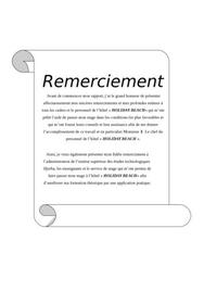 Rapport de stage perfectionnement