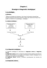 Stratégie et diagnostic stratégique