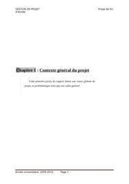 Projet de fin d'année sur la gestion de projet