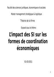 Impact si sur modes de coordination économiques