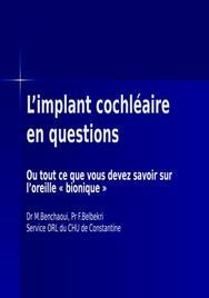L'implant cochléaire en questions