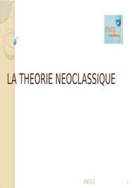 La theorie néoclassique