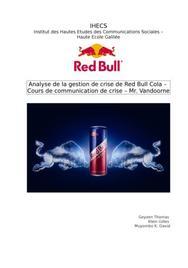 Red bull, gestion de crise