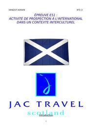 Rapport de stage agence de voyage en ecosse