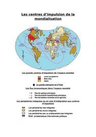 Les centres d'impulsion de la mondialisation