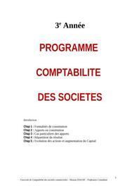 Comptabilité des sociétés