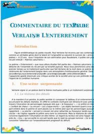 Commentaire de texte : « L'enterrement » de Paul Verlaine