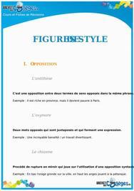 Les figures de style : Fiche de révision Brevet