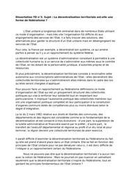 Dissertation la décentralisation