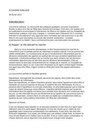 Economie publique cours L2 science eco-gestion