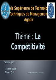 Thème : la compétitivité