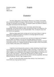 Résumé film gladiator