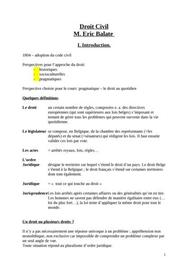 Introduction au droit et au droit civil