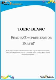 TOEIC Partie 7 : Reading Comprehension