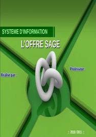 Systeme d info presentation sage