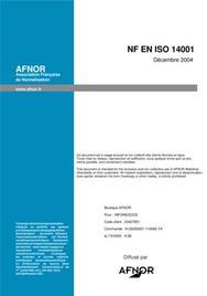 La norme iso 14001 fr